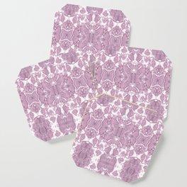 Shibori Rose Crepe De Chine Coaster