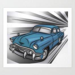 Classic Car Turquoise Art Print