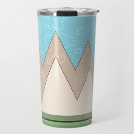 simple mountains Travel Mug