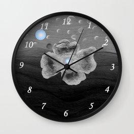Blue Moon and poppy Wall Clock