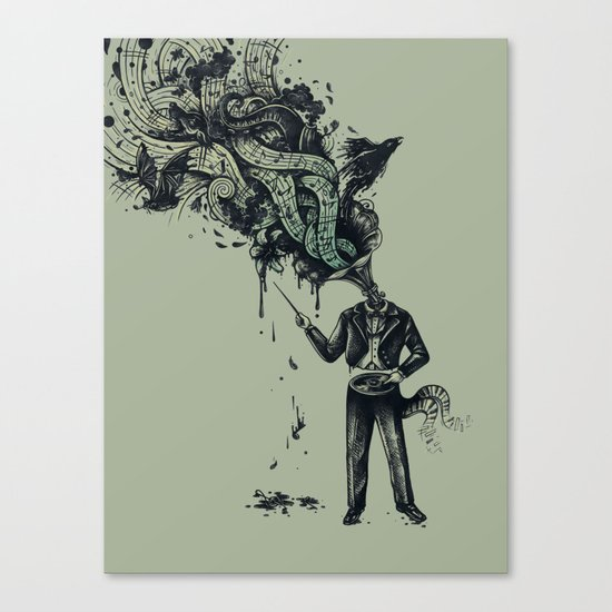 Decaying Sound of The Terror Canvas Print