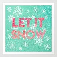 Let it Snow(flake) Art Print