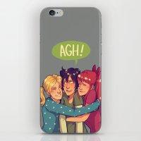 powerpuff girls iPhone & iPod Skins featuring POWERPUFF HUGS by @avataraandy
