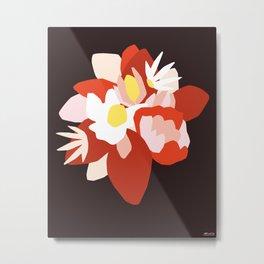 Dark floral composition Metal Print