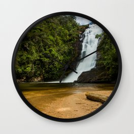 Waterfall of possessions Wall Clock