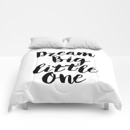 Dream Big Little One black-white minimalist childrens room nursery poster home wall decor bedroom Comforters