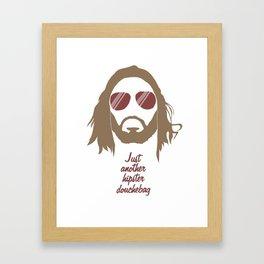 Just another hipster douchebag #1 Framed Art Print