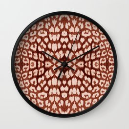 Leopard Print - Brown Wall Clock