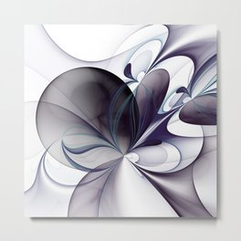 Easiness, Abstract Modern Fractal Art Metal Print