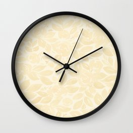 Elegant watercolor floral pattern, Remy Wall Clock