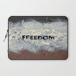 Freedom Pollock Rothko Inspired Black White Red - Modern Art - Corbin Henry Laptop Sleeve