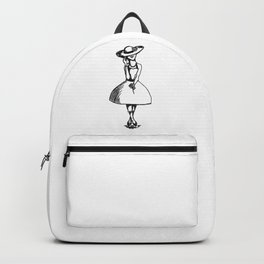Tea Party Hat with High Lace Socks Backpack
