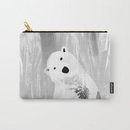 Unique Black and White Polar Bear Design Carry-All Pouch
