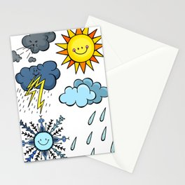 Weather Doodles Stationery Cards