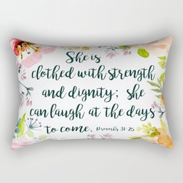 She can laugh at the days to come Rectangular Pillow