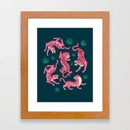 Night Race: Pink Tiger Edition Framed Art Print