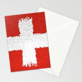 Extruded flag of Switzerland Stationery Cards