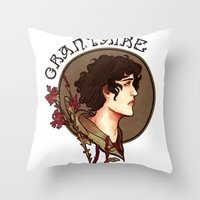 grantaire Throw Pillows featuring grantaire by chazstity