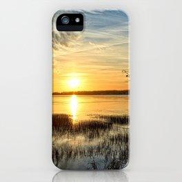 Clear Lake Sunrise iPhone Case