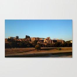 Roman ruin in Rome photography Canvas Print