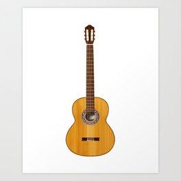 Córdoba Guitar Art Print