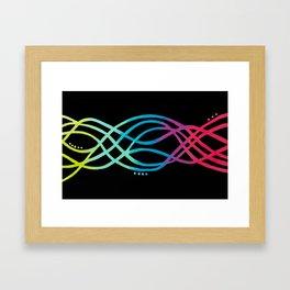 Electric Rainbow Framed Art Print