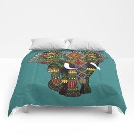 floral elephant teal Comforters