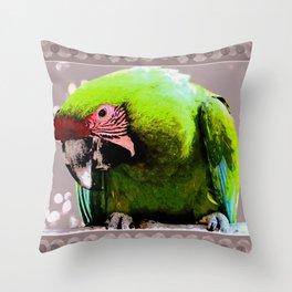 Endangered Great Green Macaw Throw Pillow