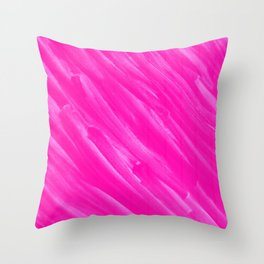 Hot Pink Happiness Throw Pillow