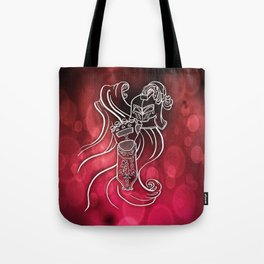 Wolf Knight: Red Tote Bag