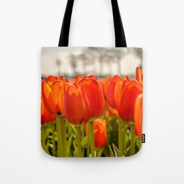 Tulips standing tall Tote Bag