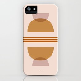 Amber Abstract Half Moon 2 iPhone Case