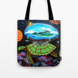 Cosmic Turtle Journey Through Space Tote Bag