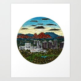 Camelback Sunrise Art Print