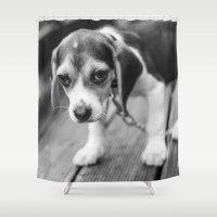 puppy Shower Curtains featuring Puppy! by Clayton Jones