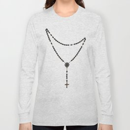 Wooden Rosary I Long Sleeve T-shirt