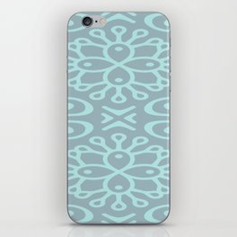 Aqua On Blue Boho Design iPhone Skin