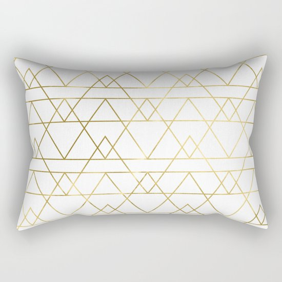 Modern Gold Pillows : Modern Gold Rectangular Pillow by Simple Luxe Society6