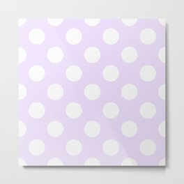 Geometric Orbital Circles In Pale Delicate Summer Fresh Lilac with White Dots Metal Print