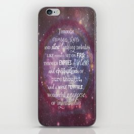 Dr Who Quotes iPhone Skin