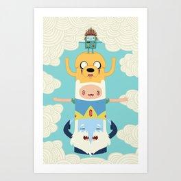 Adventure Totem Art Print