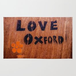 Love in Oxford, Oxford, England, UK Rug