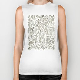 Grey Botanical Biker Tank