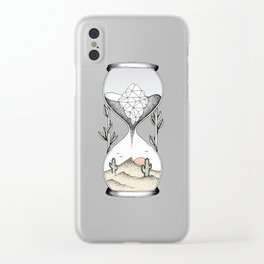 Time Is Running Out Clear iPhone Case