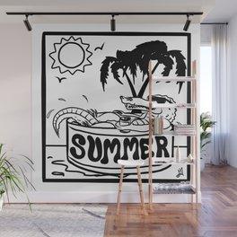 Summer Gator Days Wall Mural