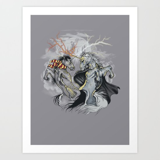 Retold with Unicorns II Art Print
