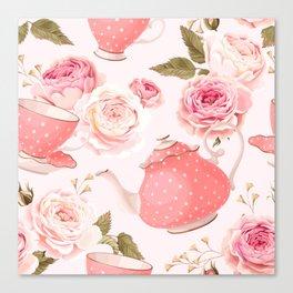 Pink Teacup Canvas Print