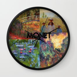 Monet Collage Wall Clock