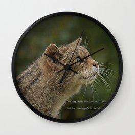 The Wisdom of Cats Wall Clock