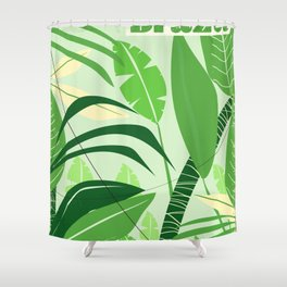 Brazil rainforest vintage travel poster Shower Curtain